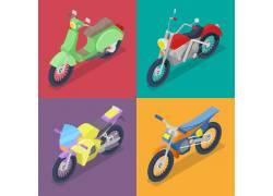 小型摩托车素材集合图片