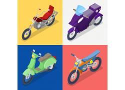 四辆摩托车图片