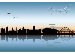 城市剪影背景素材