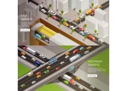 创意交通地图设计矢量素材图片