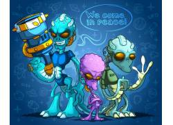 卡通外星人物图片