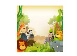 野生动物卡通素材图片