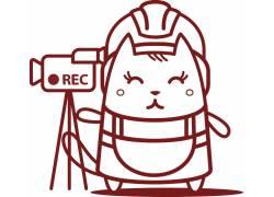 摄像机和可爱的小动物
