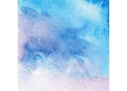 蓝色渐变水彩背景