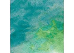 蓝绿色墨迹水彩背景