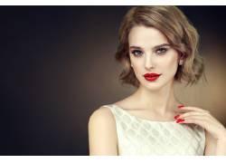 模特美女发型设计