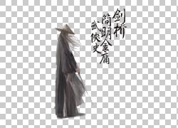 水墨绘画侠客武士 (1)