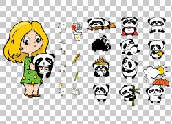 卡通熊猫设计图片