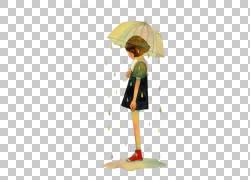雨中拿雨伞的女孩图片