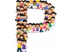 儿童英文字母排版