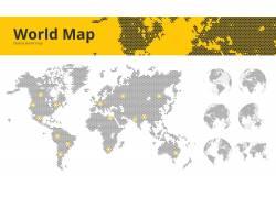 灰色世界地图图片
