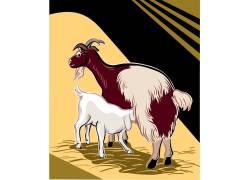 矢量卡通羊动物设计图片