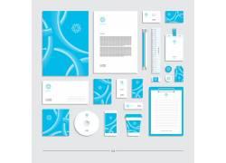 蓝色VI模板设计