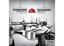 手绘西式餐厅