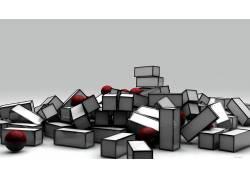 3D立体图形图案背景