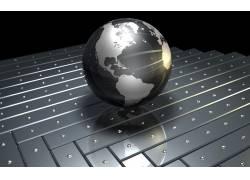黑色的水晶地球