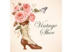 复古女士靴子