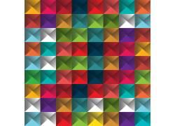 彩色拼图图案背景图片