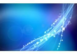 蓝色曲线几何图形背景图片