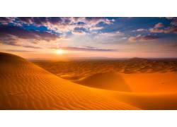 金色沙漠落日-001