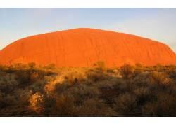 黄色丘陵沙漠风景