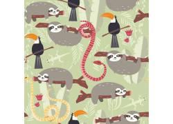 卡通热带雨林动物图片