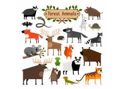 森林动物简笔画图片