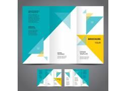 几何元素三折页图片