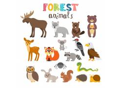 森林小动物图片