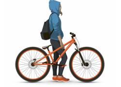 骑着自行车的运动女性