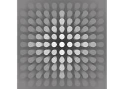 圆柱透视造型灰度背景