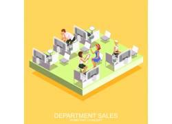 办公人物卡通模型设计图片