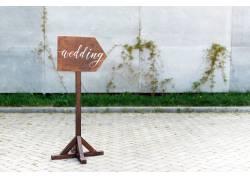 婚礼木头牌