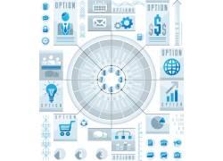 蓝色商务图表设计