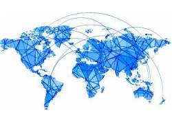 蓝色世界地图设计图片