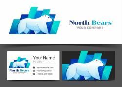矢量卡通北极熊设计图片