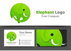卡通大象设计图片