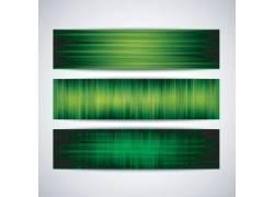 绿色声波banners设计
