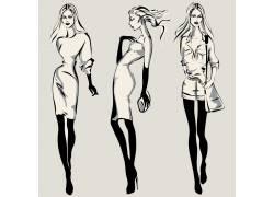 时尚卡通美女设计图片