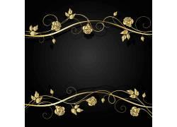 金色花纹素材
