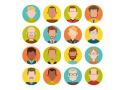 彩色卡通人物头像设计图片