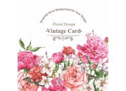 手绘水彩花卉卡片