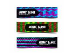 彩色几何图形banners设计