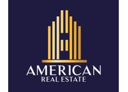金色线条房产logo