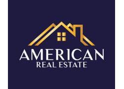 金色房产线条logo