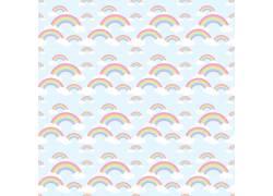 白云彩虹无缝背景