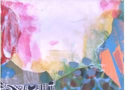 彩色涂鸦抽象水彩背景