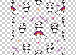 可通卡通熊猫图片