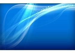 蓝色曲线星光创意背景图片