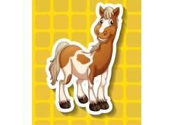 卡通马动物设计图片